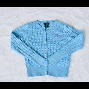 Polo Ralph Lauren Sky Blue SZ 6X Cardigan